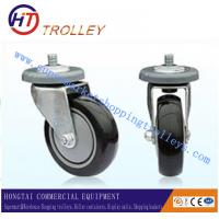 Best PU Castors Of Shopping Trolley Spare Parts With Double Bearings wholesale