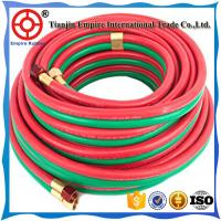 China OXYGEN AND ACETYLENE HOSE TWIN WELDING HIGH PRESSURE RUBBER 5/16'' HEAT RESISTANT on sale