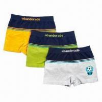 China Men's boxer shorts/pants/underwear/swim trunks, made of 100% cotton on sale