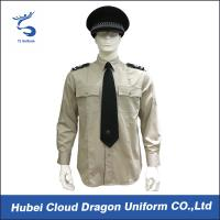 Best Lightweight Security Guard Shirts Long Sleeves With Adjustable Cuffs , Logo Printed wholesale