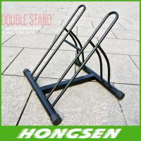 China Two position steel bicycle wheel racks stand for parking on sale
