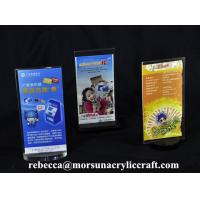 Best Plexiglass Information Rack PMMA Table Tent Display Countertop Clear Acrylic Sign Holder wholesale