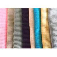 China Printed Cotton Corduroy Fabric 16 Wale Flame Retardant For Curtain / Dress on sale