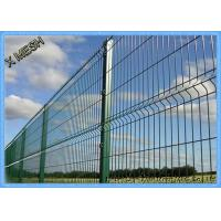 China Powder Coated Welded Curved Metal Fence Panel Heavy Gauge Heat Treated on sale