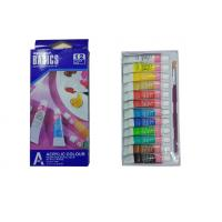 Best Strong Adhesion Basics Colored Acrylic Paint Set , Artists Paint Pigments 12 X 6ml Tubes wholesale