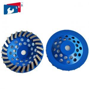 Blue 4.5 Concrete Grinding Wheel , Diamond Grinding Wheels For Granite