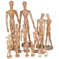 Best Full Size Wooden Human Mannequin / Figure , Wooden Drawing Doll For School wholesale