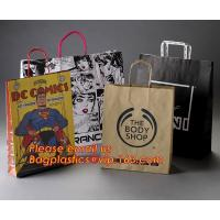 Best Luxury matte black shopping paper bag with logo UV for clothing packaging wholesale