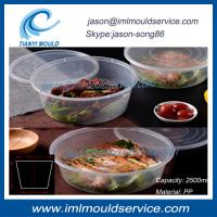 Best extra large clear thin wall plastic fish bowl and disposable lunch box 2500ml mould wholesale