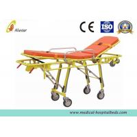 China Stainless Steel Adjustable Folding Stretcher Automatic Loading Ambulance Stretcher Trolley ALS-S012 on sale