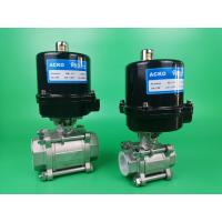 Buy cheap 2 Way Electric Ball Valve With Air Operated Pneumatic Actuator from wholesalers