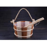 Buy cheap Smoothy Carved  Sauna  Pail Bucket and Spoon Set with Liner For Dry Sauna Room Accessories product