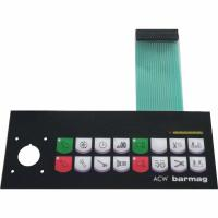 EL type membrane switch embossed metal dome button with PET connector & low power consumption for remote controller