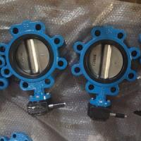 China DN150 Cast Iron Gear Operated Butterfly Valves PN25 EPDM Seat SS416 Stem on sale