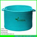 Best LUDA 2016 new products round blue cotton storage basket wholesale