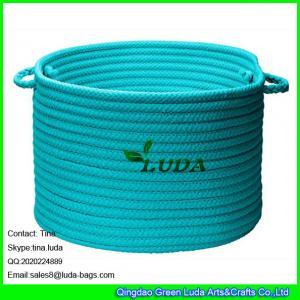 LUDA 2016 new products round blue cotton storage basket
