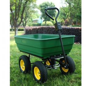 China dump cart TC4253 garden tool cart caster rubber wheel hand trolley truckwheelbarrow on sale