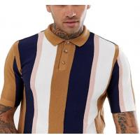 Best Knitted Vertical Striped T Shirt Mens Multiple Color Available Size XS-XXXXXL wholesale