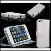 Best Left and Right Suport Leather Case with Button Clamp for The iPhone 5 P-Iph5case002 wholesale