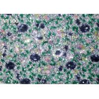 Best VU100 Multi Coloured 3D Sequin Lace Fabric Navy Eco PP Yarn Customized Lace Design wholesale