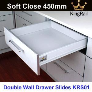 China Office furniture hardware drawer slide Soft Close Drawer slide KRS01 on sale
