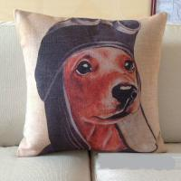 Decorative indoor dog print chair cushion cover cheap pillow cover seat cushion cover 45cm