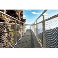 China Knotted Stainless Steel Balustrade Mesh,Glass Plank Road Protective Mesh on sale