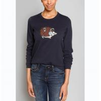 WOMEN'S 100% COTTON APPLIQUE EMBROIDERY KNITTED SWEATER ( PULLOVER )