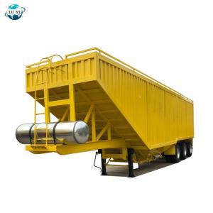 China Customized 60t 80t grain corn transport semi trailer dump truck on sale