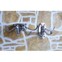 China Decorative Metal Wood Wall Hook Mounting Hooks for Coat Hat Clothes, Zinc alloy wall hook on sale
