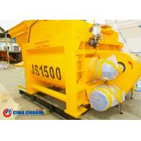 China 4m Manual Yellow Cement Mixer , Electrical Sand And Cement Mixing Machine on sale