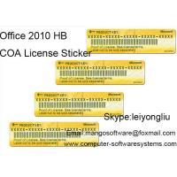 Best Home And Business Office 2010 Retail Box COA License Sticker 100% Work wholesale