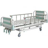 China Height Adjustable Semi Fowler Manual Hospital Bed For Ward with ABS Platform on sale