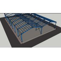 China Galvanized Lightweight Prefabricated Steel Frame Buildings Customized Color on sale