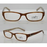 Best Orange / Black Rectangular Retro Acetate Eyeglasses Frames With Lightweight wholesale