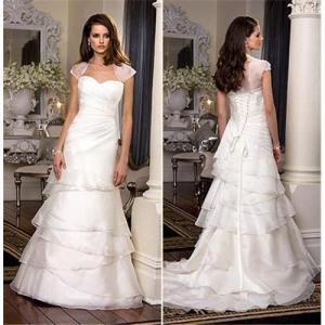 Customize strapless wedding dress bridal gown W0886