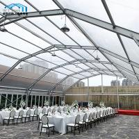 Best Commercial Clear Roof Wedding Tent Polygon Arched Aluminum Alloy Frame wholesale