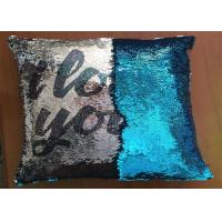 Best Popular Fashion Custom Logo Reversible Sequin Pillow I Love You Word Printing Pillow Cases For Holiday Gifts wholesale