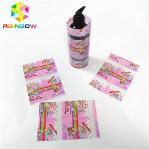 China Transparent Laminated PVC Heat Shrink Sleeve , Wrap Bottle Sleeve Labels Customized on sale