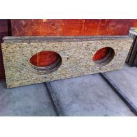 China Giallo Ornamental Granite Bathroom Vanity Tops With Oval Sink Hole on sale