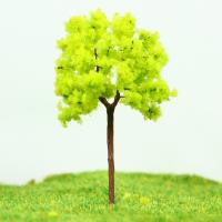 Best OEM Miniature Model Trees Yellow Green Street Wire Tree 7cm wholesale