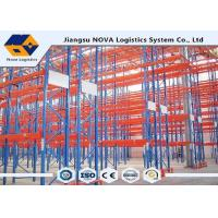 China Heavy Duty Metal Storage Shelves Warehouse , Cold Rolled Steel Plate Narrow Aisle Pallet Racking on sale