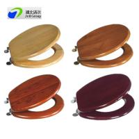 China Direct manufacturer! solid wood sanitary seat cover with soft close/quick release hinges-European and US standard on sale