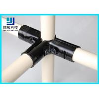 Best 3 way Flexible Metal Pipe Joints Black Electrophoresis For Pipe Rack System wholesale