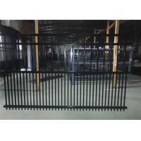 Best Steel fence 2100mmx2400mm Panels Stain Black Interpon Powder Rail 40mm and 50mm Upright 25mm wholesale