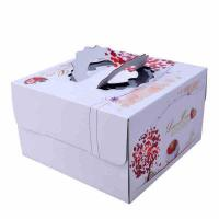 China Square Birthday Cake Custom Packaging Boxes Food Grade Lvory Paper 400gsm - 800gsm on sale