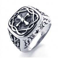 Best Tagor Jewelry Super Fashion 316L Stainless Steel Casting Rings Collection PXR011 wholesale