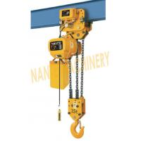 China HHBB Series Electric Chain Hoist - Capacity of 7.5T for Single / Double Speed on sale
