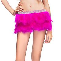Best Double Layer Skirt / Fabulous Feather Mini Skirt With Rhinestones Waist Band wholesale