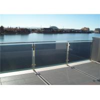 China Square Post Building Railing , Outdoor Tinted Tempered Glass Deck Railing on sale